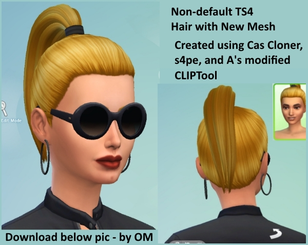 Non Default Hair With New Mesh For Cas Demo The Sims Forums